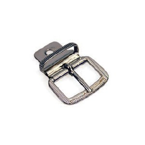 Belt buckle with plate